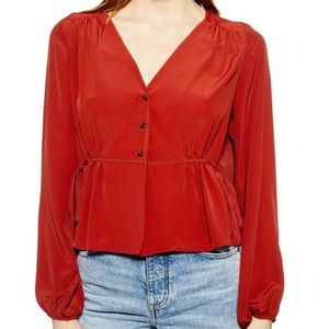 TOPSHOP Ella Side Tie Blouse